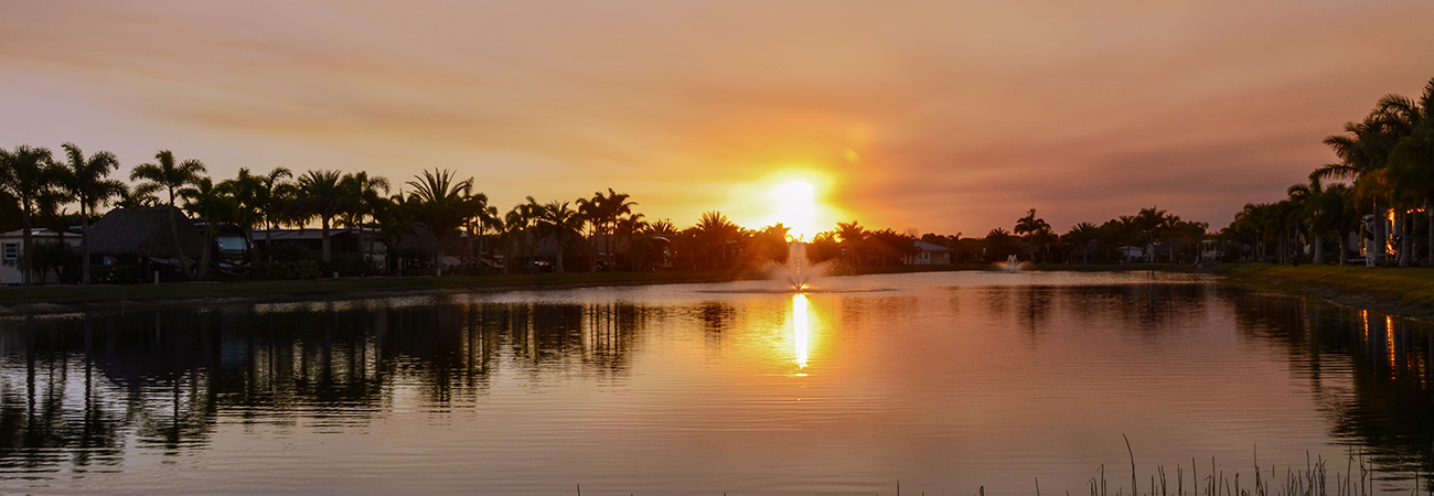 Sunset at Silver Palms RV Resort