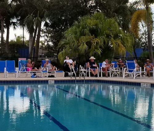 Lounge By The Pool At Silver Palms