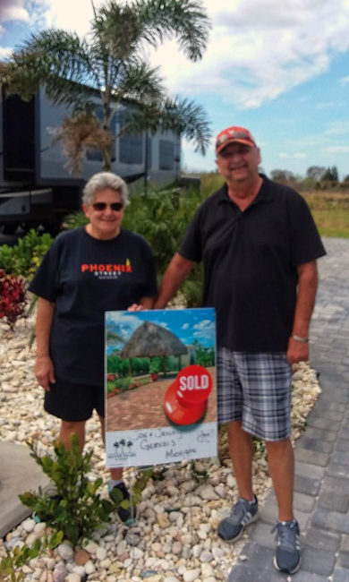 Joe & Jenny Gervais owners at Silver Palms RV Resort