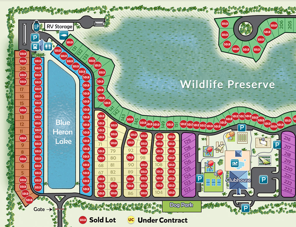 View our property map at Silver Palms RV Resort
